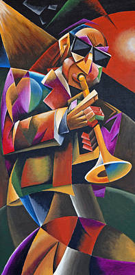 Trumpet Painting - Jazz Horn by Bob Gregory