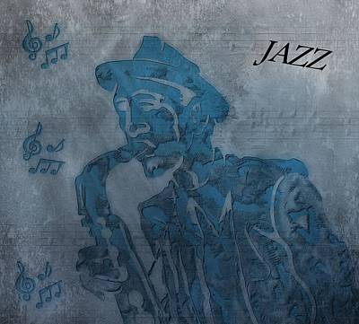 Ragtime Digital Art - Jazz Man by Dan Sproul
