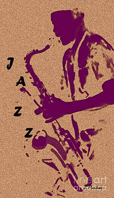 Jazz Man Print by Linda  Parker