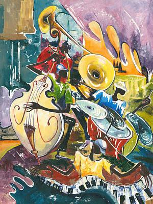 Jazz No. 4 Print by Elisabeta Hermann