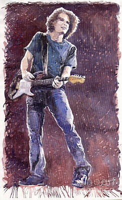 John Mayer Painting - Jazz Rock John Mayer 01 by Yuriy  Shevchuk