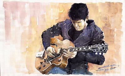 Musician Painting - Jazz Rock John Mayer 02 by Yuriy  Shevchuk