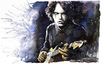Jazz Rock John Mayer 03  Print by Yuriy  Shevchuk