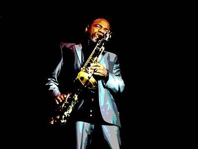Jazzman Print by Deena Stoddard