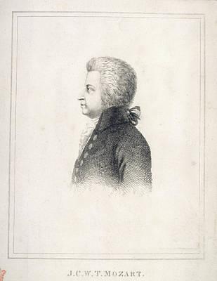 J.c.w.t. Mozart Print by British Library