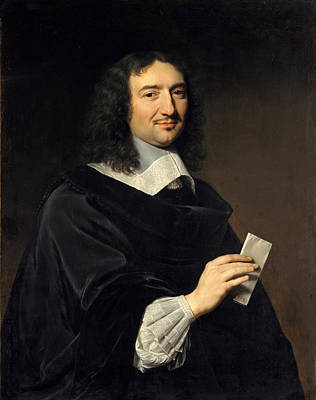Philippe De Champaigne Painting - Jean-baptiste Colbert by Philippe de Champaigne