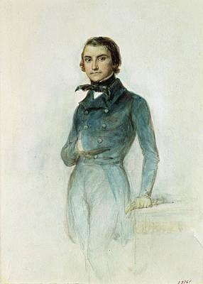 Jean Joseph Louis Blanc 1811-82 1835 Pastel On Paper Print by Denis-Auguste-Marie Raffet
