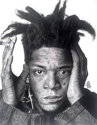 Basquiat Drawing - Jean-michel Basquiat Drawing by Angelee Borrero