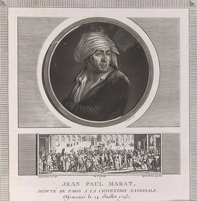 Jean Paul Marat Print by British Library