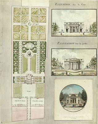 Projects Drawing - Jean Testard And Charles-philippe Campion De Tersan by Litz Collection
