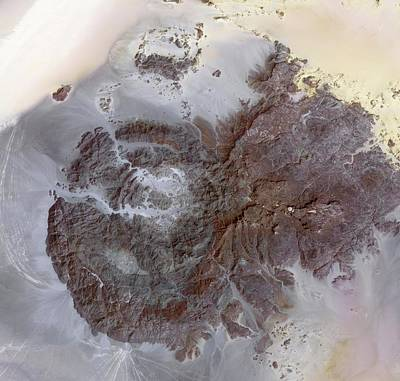 2012 Photograph - Jebel Uweinat Mountains by Nasa/gsfc/meti/ersdac/jaros, And U.s./japan Aster Science Team