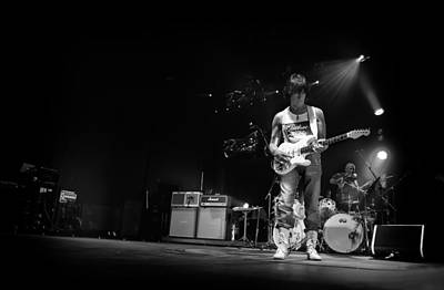 Jeff Beck On Guitar 5 Print by The  Vault - Jennifer Rondinelli Reilly
