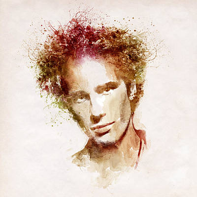 Jeff Buckley Print by Marian Voicu