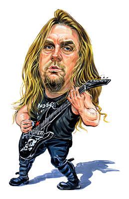 Caricatures Painting - Jeff Hanneman by Art