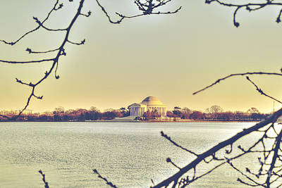 Us Capital Photograph - Jefferson Memorial At Dusk by Emily Kay