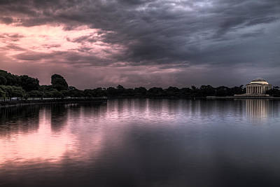 Photograph - Jefferson Memorial At Sunset by John Pike