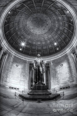 Jefferson Memorial Photograph - Jefferson Memorial Interior Iv by Clarence Holmes