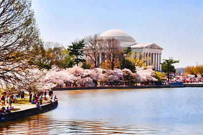 Jefferson Memorial Digital Art - Jefferson Memorial Washington Dc by Vizual Studio