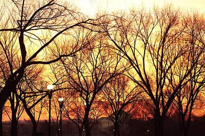 Jefferson Memorial - Washington Dc - 01135 Print by DC Photographer