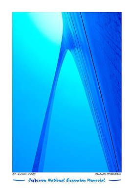 Abstract Pop Digital Art - Jefferson National Expansion Memorial by Mike McGlothlen