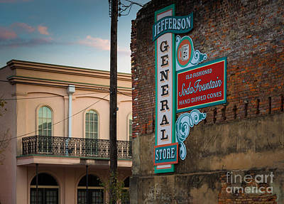 Storefront Photograph - Jefferson Soda Fountain by Inge Johnsson