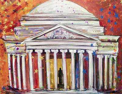 Jefferson Memorial Painting - Jefferson Sparkles by Mary Gallagher-Stout