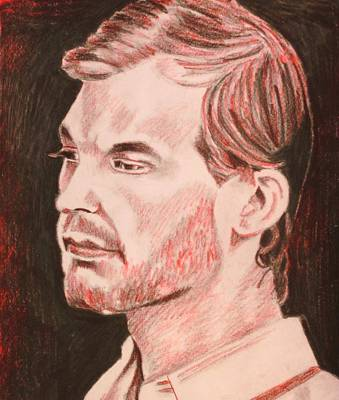 Serial Killer Drawing - Jeffrey by Jeremy Moore