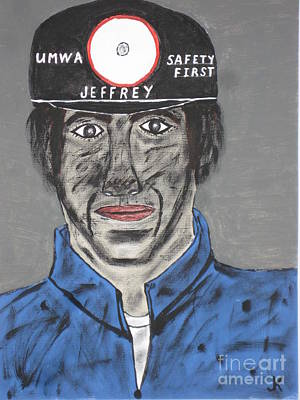 Jeffrey The Coal Miner Original by Jeffrey Koss