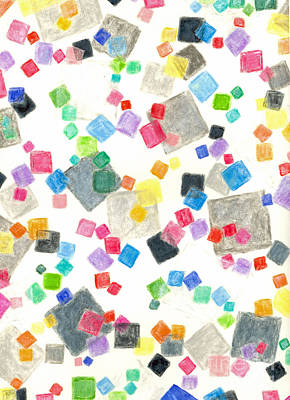 Jello Cubes Colorful Abstract Print by Art Now And Here