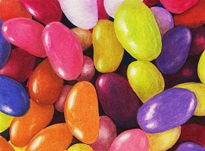 Malakhova Drawing - Jelly Beans by Anastasiya Malakhova