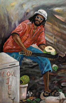 Jamaican Art Painting - Jelly Man by Ewan  McAnuff
