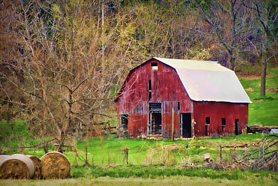 Jemerson Creek Barn Print by Cricket Hackmann
