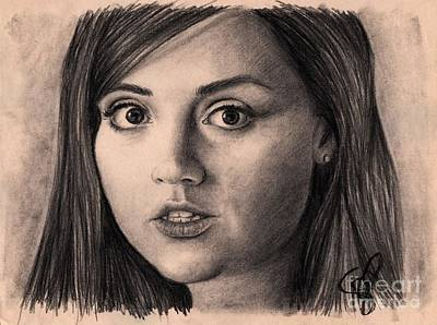 Doctor Who Drawing - Jenna-louise Coleman by Rosalinda Markle