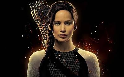 Jennifer Lawrence As Katniss Everdeen Print by Movie Poster Prints