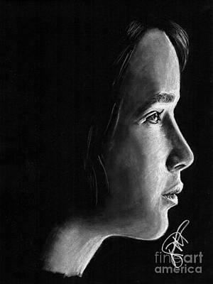Hunger Drawing - Jennifer Lawrence by Rosalinda Markle