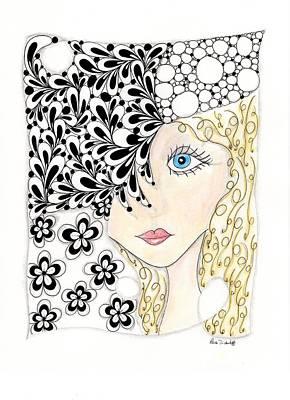 Jennifer Print by Paula Dickerhoff