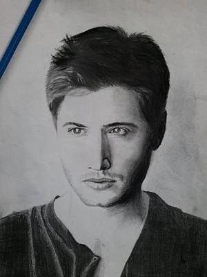 Blending Drawing - Jensen Ackles by Ajay G