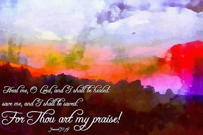Jeremiah 17 14 Print by Michelle Greene Wheeler