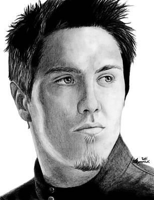 Nashville Drawing - Jeremy Dunn by Kayleigh Semeniuk