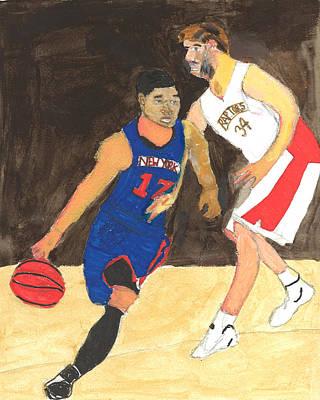 Knicks Painting - Jeremy Lynn The Amazing by Nat Solomon