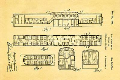Car Photograph - Jergenson Railway Car Patent Art 2 1945 by Ian Monk
