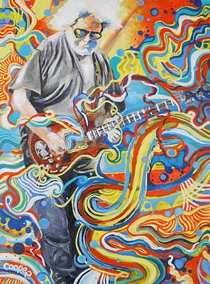 Jerry Garcia Band Painting - Jerome 8 by Kevin J Cooper Artwork