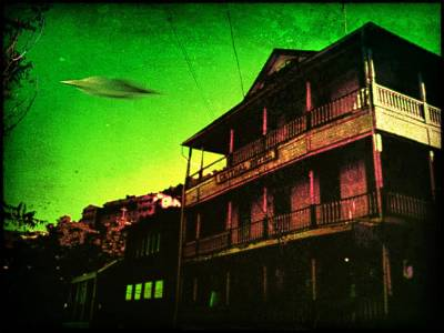 Paranormal Digital Art - Jerome Az Visitor by Milton Thompson
