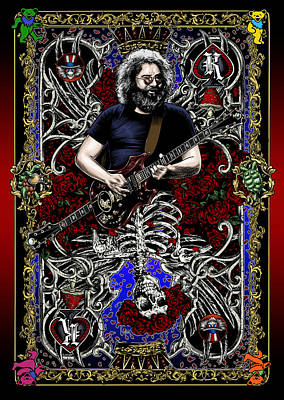 Guitar Painting - Jerry Card by Gary Kroman