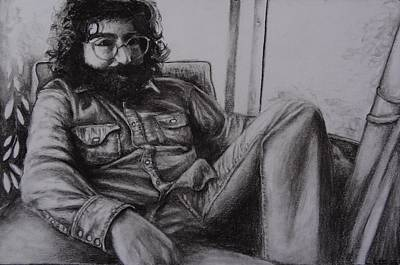 Rollingstone Drawing - Jerry Garcia In '72   by Leandria Goodman