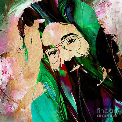 Rock Mixed Media - Jerry Garcia by Marvin Blaine