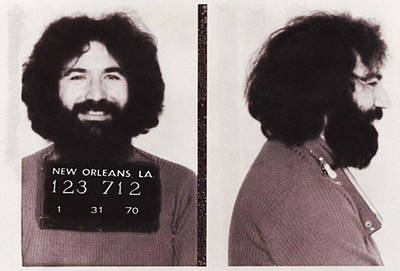Jerry Garcia Mugshot Print by Digital Reproductions