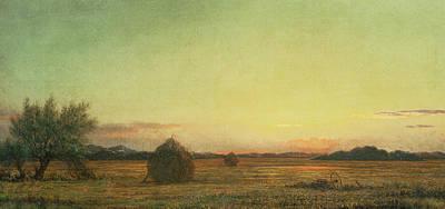 Stacked Painting - Jersey Meadows by Martin Johnson Heade