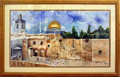 Jerusalem Cradle Of Civilization Print by Rachel Alhadeff