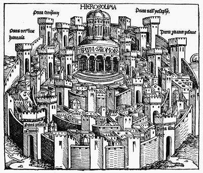 Jerusalem Temple, 1493 Print by Granger